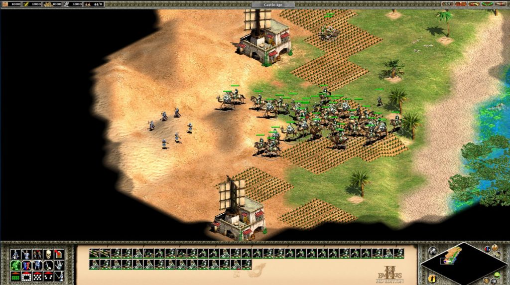 Age of Empires 2 - HD Edition: camel riders attack foot soldiers