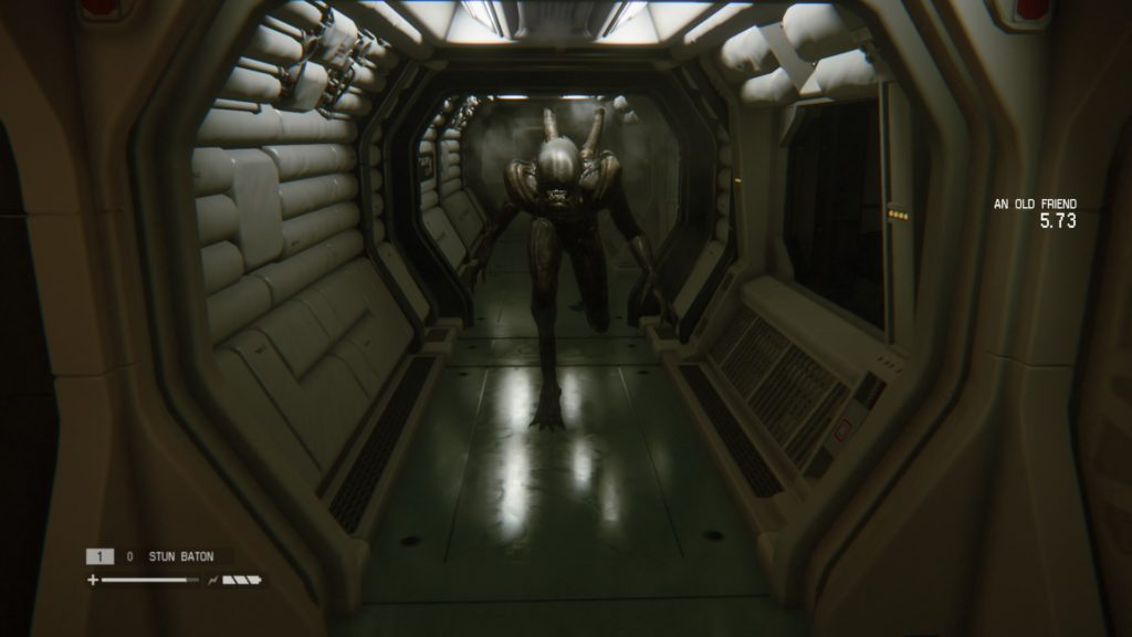 Alien Isolation: Alien running towards you
