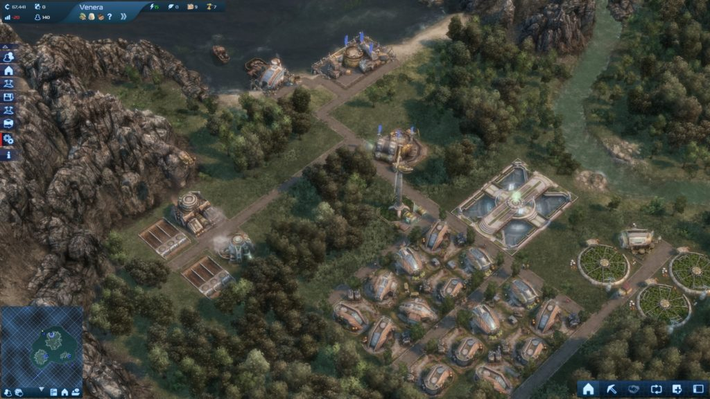 Anno 2070: view of an early settlement