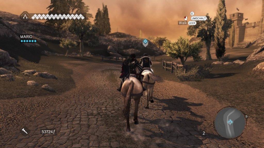 Assassin's Creed Brotherhood: two men riding