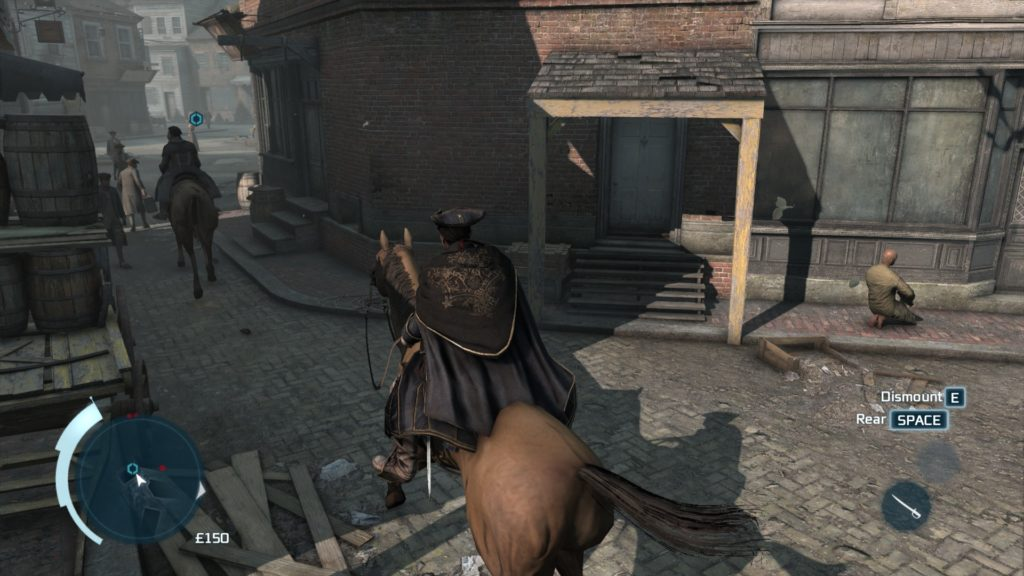 Assassin's Creed III: a buttless horse