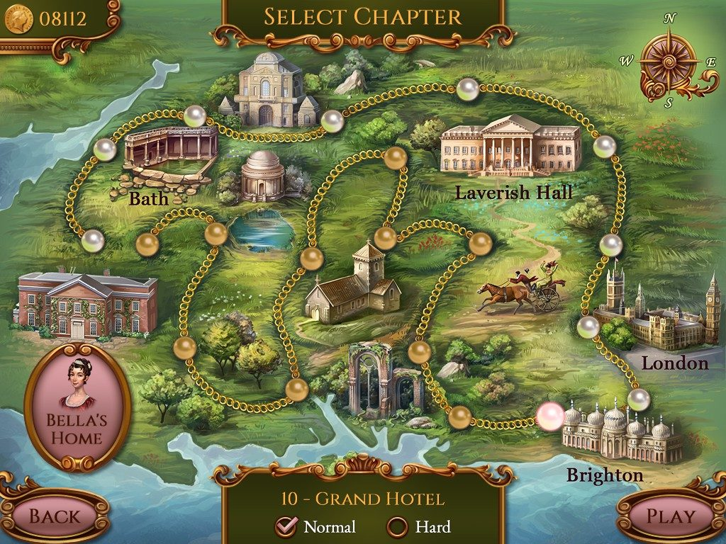 Regency Solitaire: the map