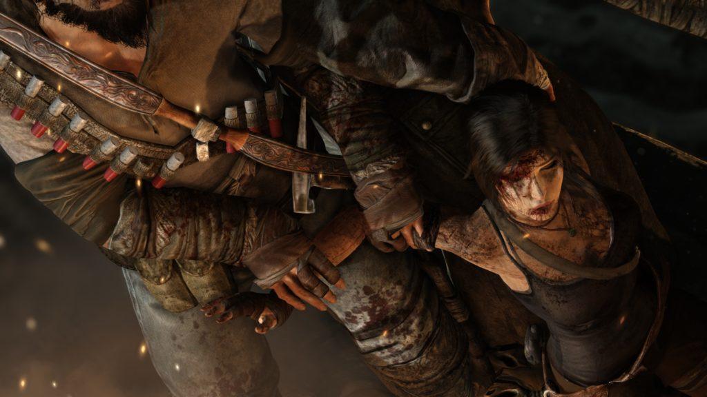 Tomb Raider: Lara gets dragged around by thungs